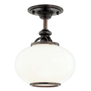 Canton Old Bronze Semi Flush Ceiling Light