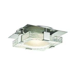 Bourne Polished Nickel 11-Inch LED Flush Mount