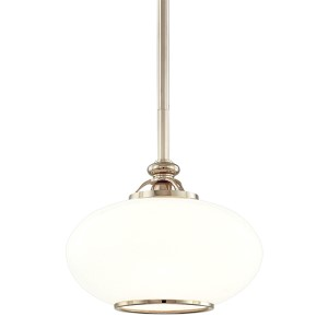 Canton Polished Nickel Dome Pendant