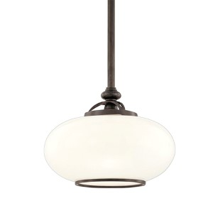 Canton 15-Inch Old Nickel One-Light Pendant