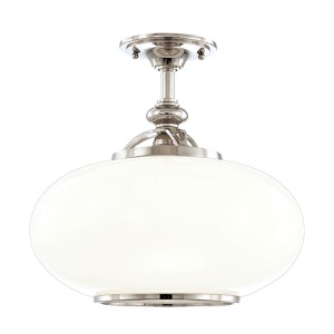 Canton Polished Nickel Semi Flush Ceiling Light