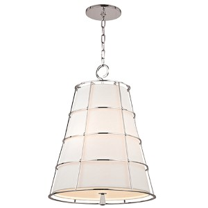 Savona Polished Nickel 20-Inch Wide Three-Light Pendant