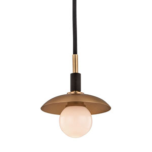 Julien Aged Brass LED 5-Inch One-Light Mini Pendant