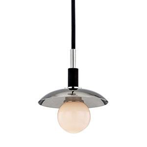 Julien Polished Nickel LED 5-Inch One-Light Mini Pendant