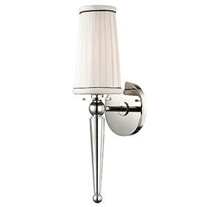 Cypress Polished Nickel 1-Light 4.75-Inch Wall Sconce
