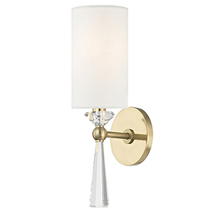 Birch Aged Brass 1-Light 4.75-Inch Wall Sconce