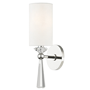 Birch Polished Nickel 1-Light 4.75-Inch Wall Sconce