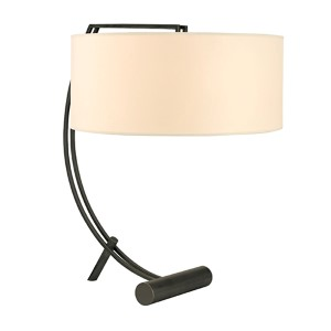 Deyo Old Bronze Two-Light Table Lamp with Cream Shade