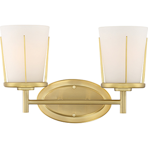 Serene Natural Brass Two-Light Six-Inch Wall Sconce