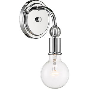 Bounce Polished Nickel One-Light Wall Sconce