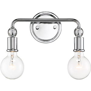 Bounce Polished Nickel Two-Light Wall Sconce
