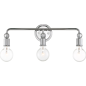 Bounce Polished Nickel Three-Light Wall Sconce