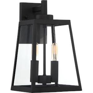 Halifax Black Two-Light Outdoor Wall Lantern