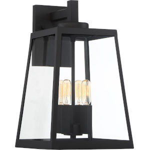 Halifax Black Four-Light Outdoor Wall Light