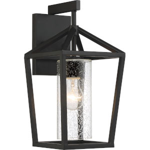 Hopewell Black 7-Inch One-Light Outdoor Wall Lantern