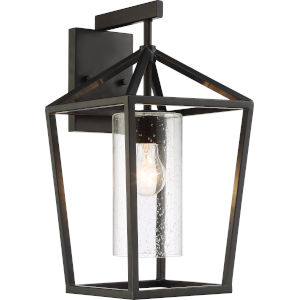 Hopewell Black 9-Inch One-Light Outdoor Wall Light