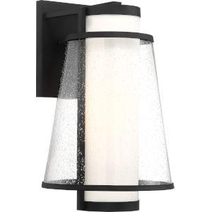 Anau Black One-Light Outdoor Wall Light