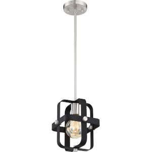 Prana Black One-Light Mini-Pendant