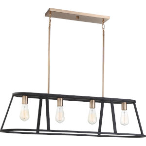 Chassis Brass Four-Light Pendant