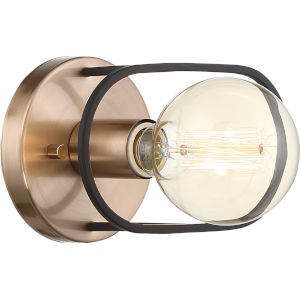 Chassis Brass One-Light Wall Sconce