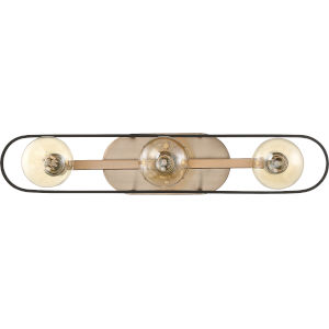 Chassis Brass Three-Light Vanity