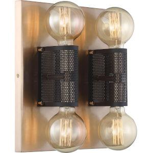 Passage Brass Four-Light Semi Flush Mount