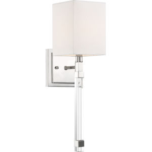 Tompson Nickel One-Light Wall Sconce
