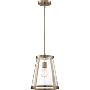 Bruge Brass One-Light Pendant