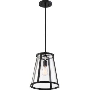 Bruge Black One-Light Pendant