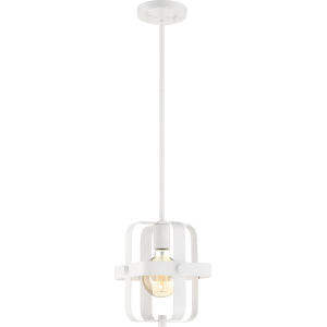 Prana White One-Light Mini-Pendant