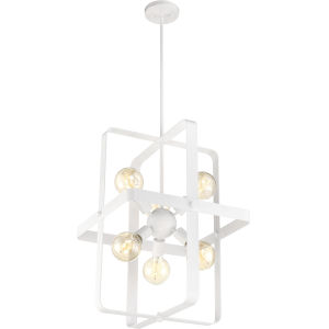 Prana White Six-Light Foyer Pendant