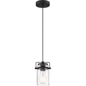Antebellum Black 5-Inch One-Light Mini-Pendant