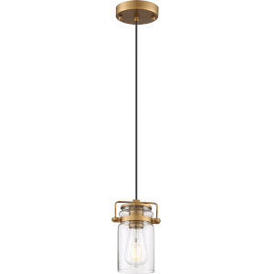 Antebellum Brass One-Light Mini-Pendant