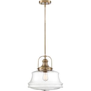 Basel Brass One-Light Pendant