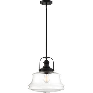 Basel Black One-Light Pendant