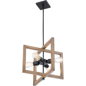 Beacon Wood Four-Light Pendant