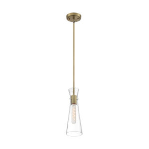 Bahari Vintage Brass One-Light Mini Pendant