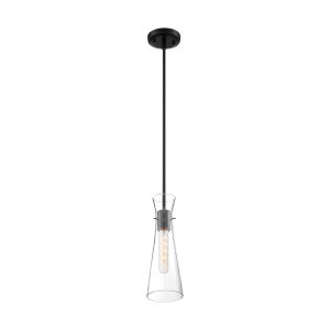 Bahari Black One-Light Mini Pendant