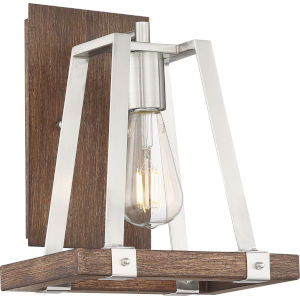 Outrigger Nickel One-Light Wall Sconce