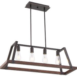 Outrigger Bronze Four-Light Pendant