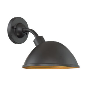 South Street Dark Bronze and Gold 10-Inch One-Light Outdoor Wall Mount