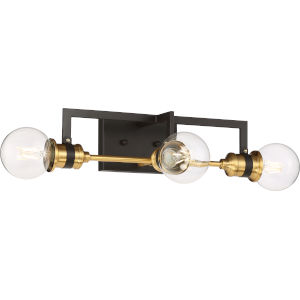 Intention Brass Three-Light Vanity