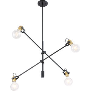 Mantra Black Four-Light Mini-Pendant