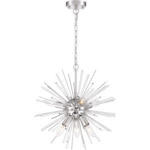 Cirrus Nickel Eight-Light Chandelier