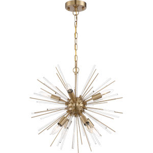 Cirrus Brass Eight-Light Chandelier
