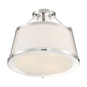 Cutty Polished Nickel Three-Light Semi-Flush Mount