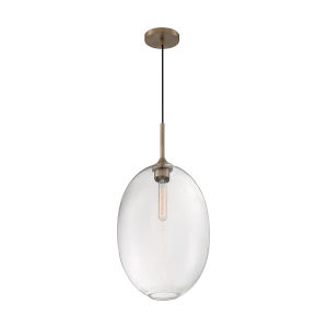 Aria Burnished Brass 23-Inch One-Light Pendant with Clear Seeded Glass