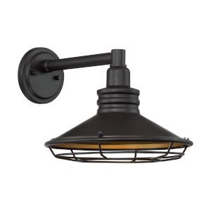 Blue Harbor Dark Bronze and Gold 12-Inch One-Light Outdoor Wall Mount