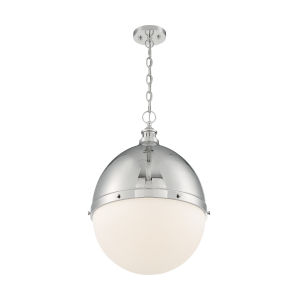 Ronan Polished Nickel 25-Inch One-Light Pendant