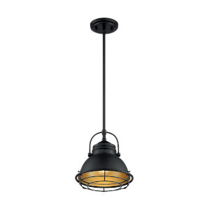 Upton Dark Bronze and Gold 10-Inch One-Light Pendant